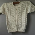 Gilet manches courtes femme tricot