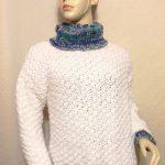 Pull blanc femme laine