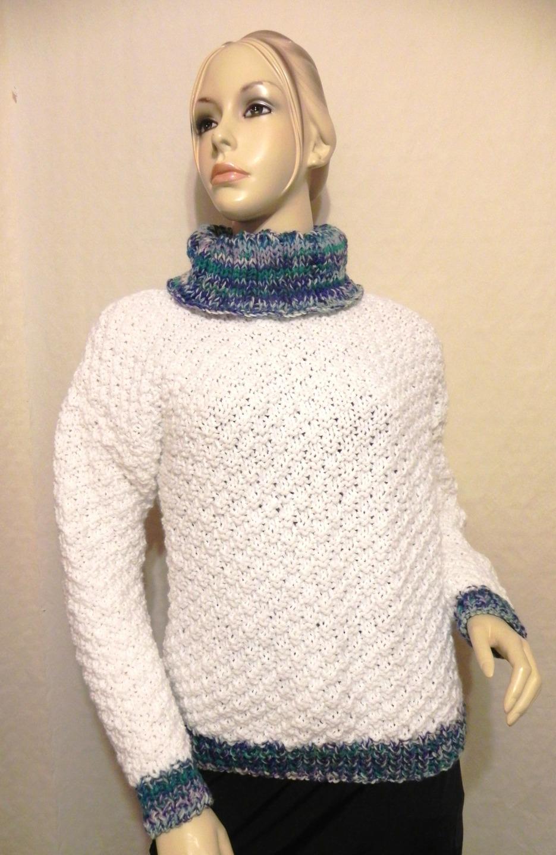 0a95a545989 Pull blanc femme laine - Laine et tricot