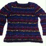 Pull fantaisie femme laine