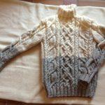 Gros pull col roulé laine femme