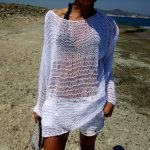 Pull blanc coton femme