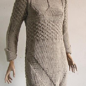 tricoter une robe en laine femme