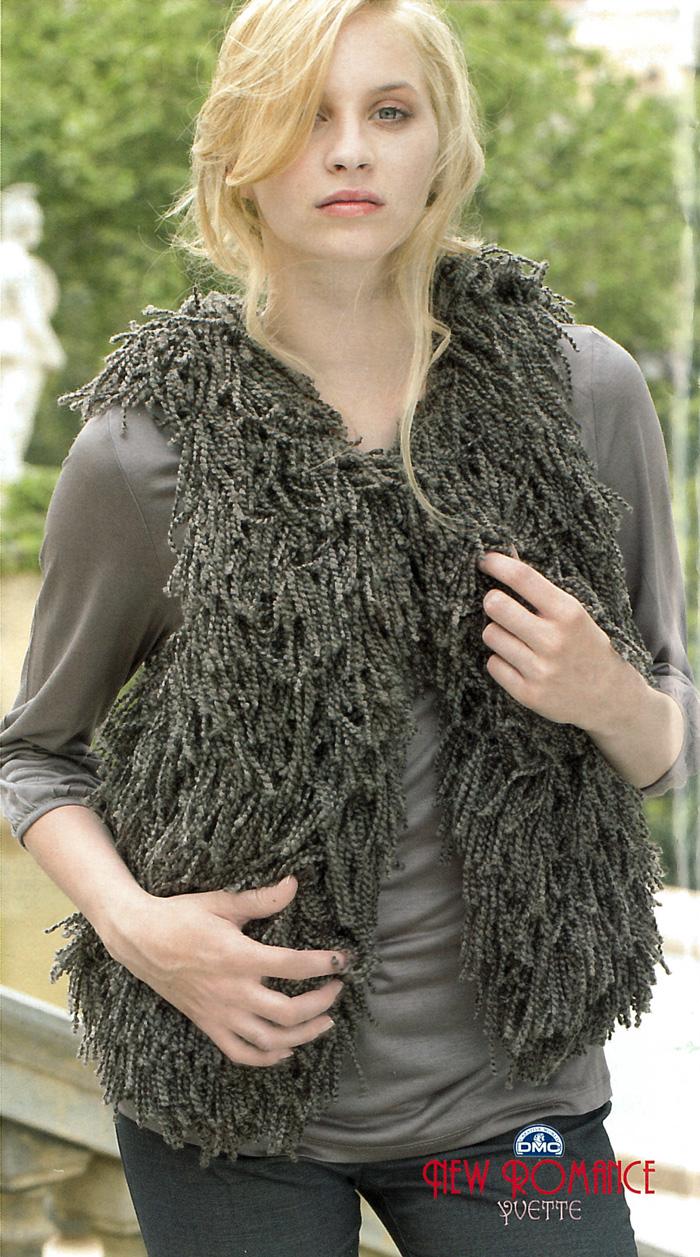 Veste sans manche femme tricot