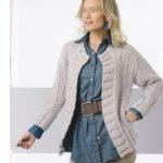 Veste femme a tricoter