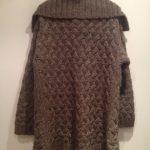 Veste en laine grosse maille femme
