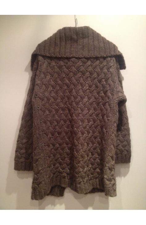 veste en laine grosse maille femme laine et tricot. Black Bedroom Furniture Sets. Home Design Ideas
