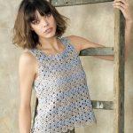 Modele tricot debardeur femme gratuit