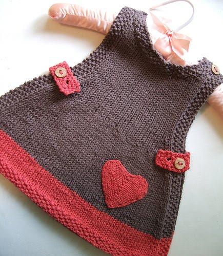 7b353d20b045e Robe tricot bebe fille - Laine et tricot