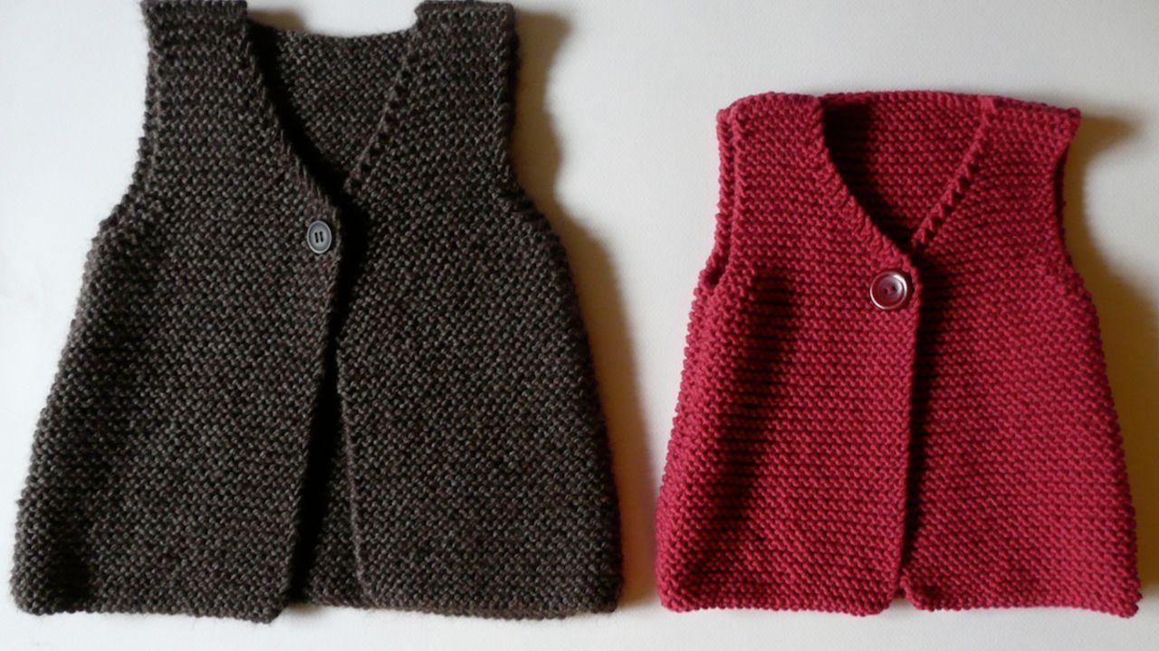 tricoter un pull sans manche