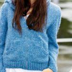Modele tricot pull a capuche femme