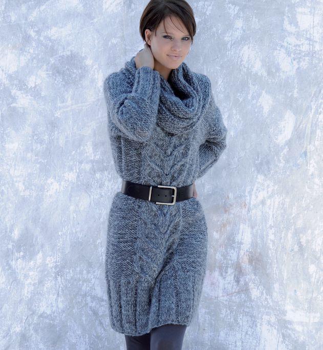modele de robe en tricot gratuit