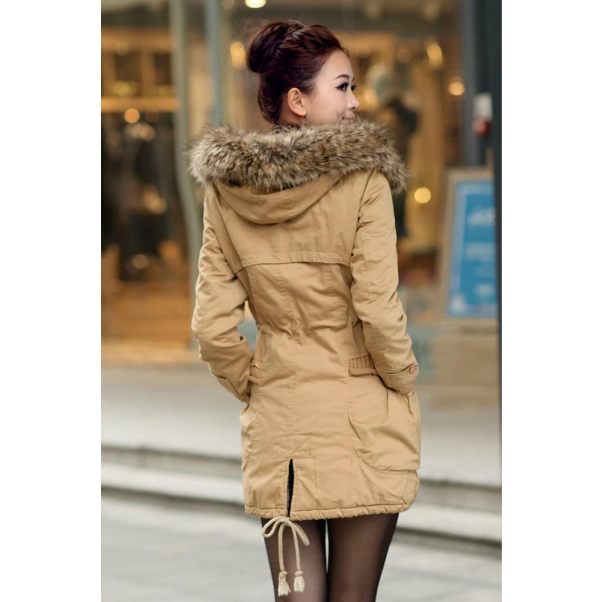 Manteau d'hiver long pour femme