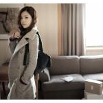 Long manteau laine femme