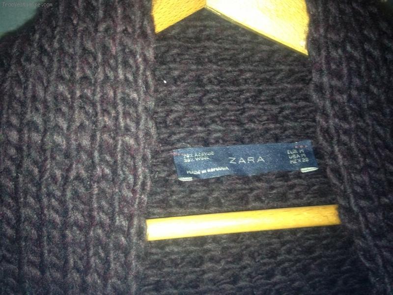 gilet femme grosse maille bleu marine laine et tricot. Black Bedroom Furniture Sets. Home Design Ideas