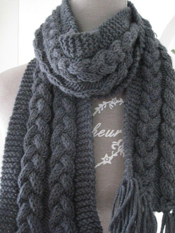 echarpe tuto laine et tricot. Black Bedroom Furniture Sets. Home Design Ideas