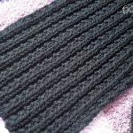Points de tricot pour foulard