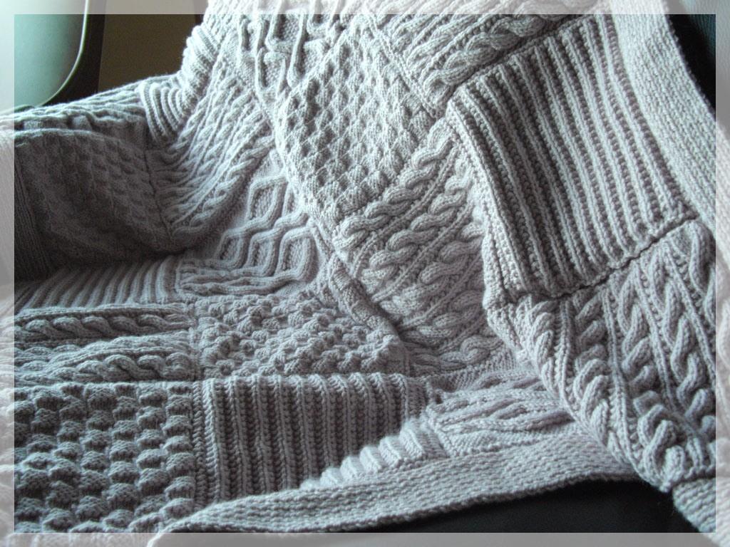 modele tricot plaid laine