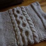Modèle snood à tricoter gratuit