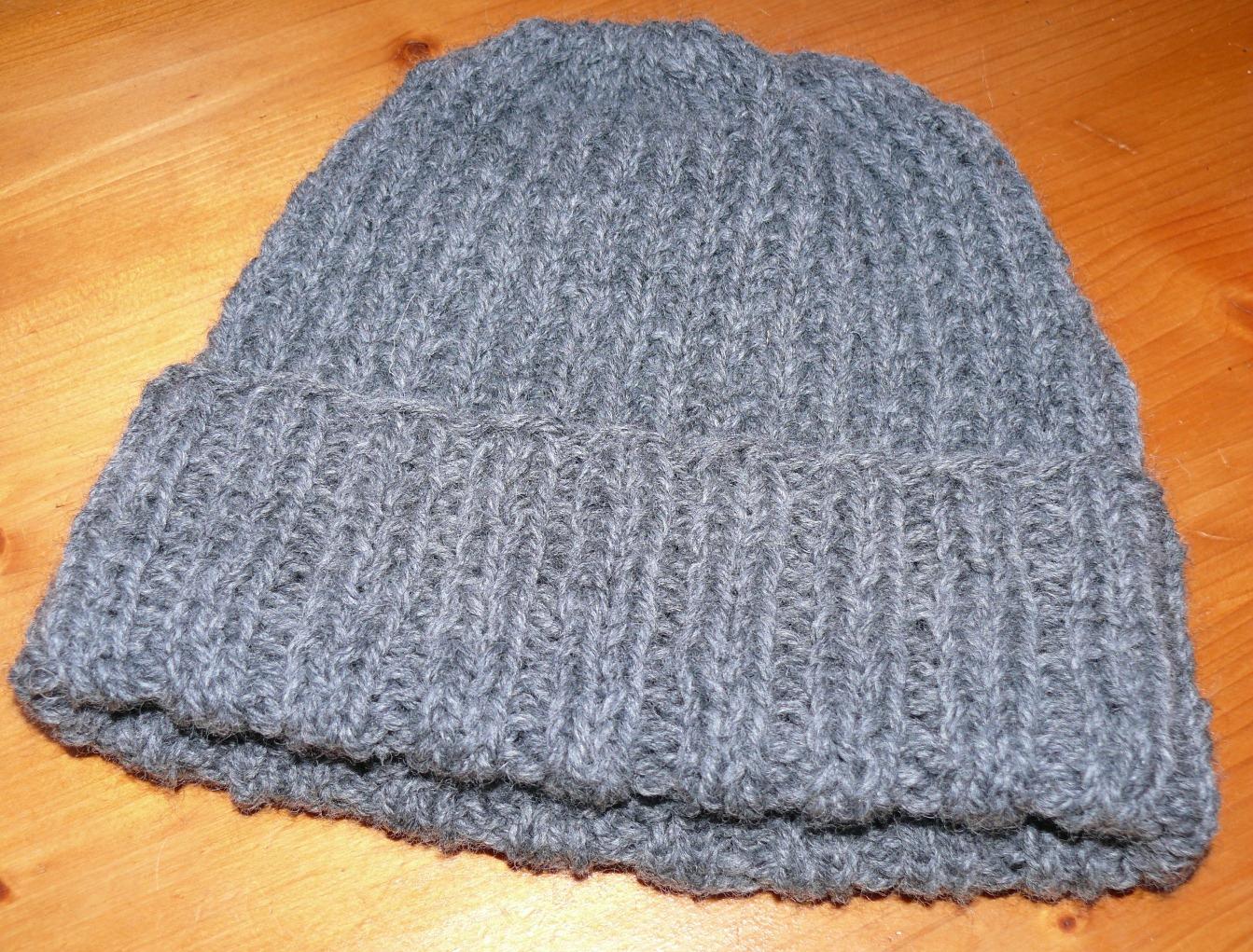bonnet tricot homme facile