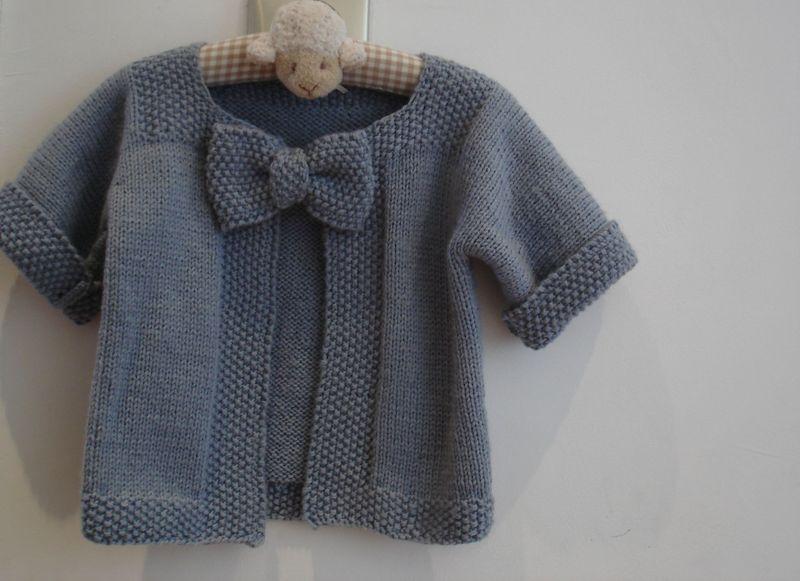 veste tricot bebe fille