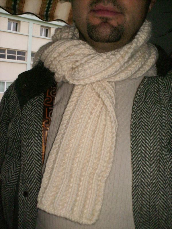 Echarpe laine homme tricot laine et tricot - Tricoter une echarpe homme ...