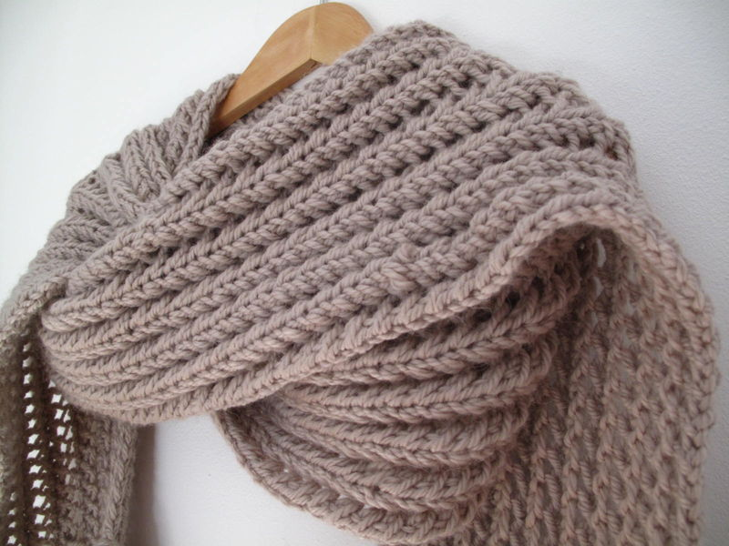 tricoter une echarpe laine