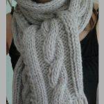 Tuto écharpe torsade tricot