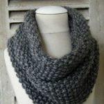 Modèle snood tricot
