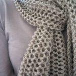 Modele de point tricot pour echarpe