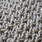 Point tricot echarpe femme