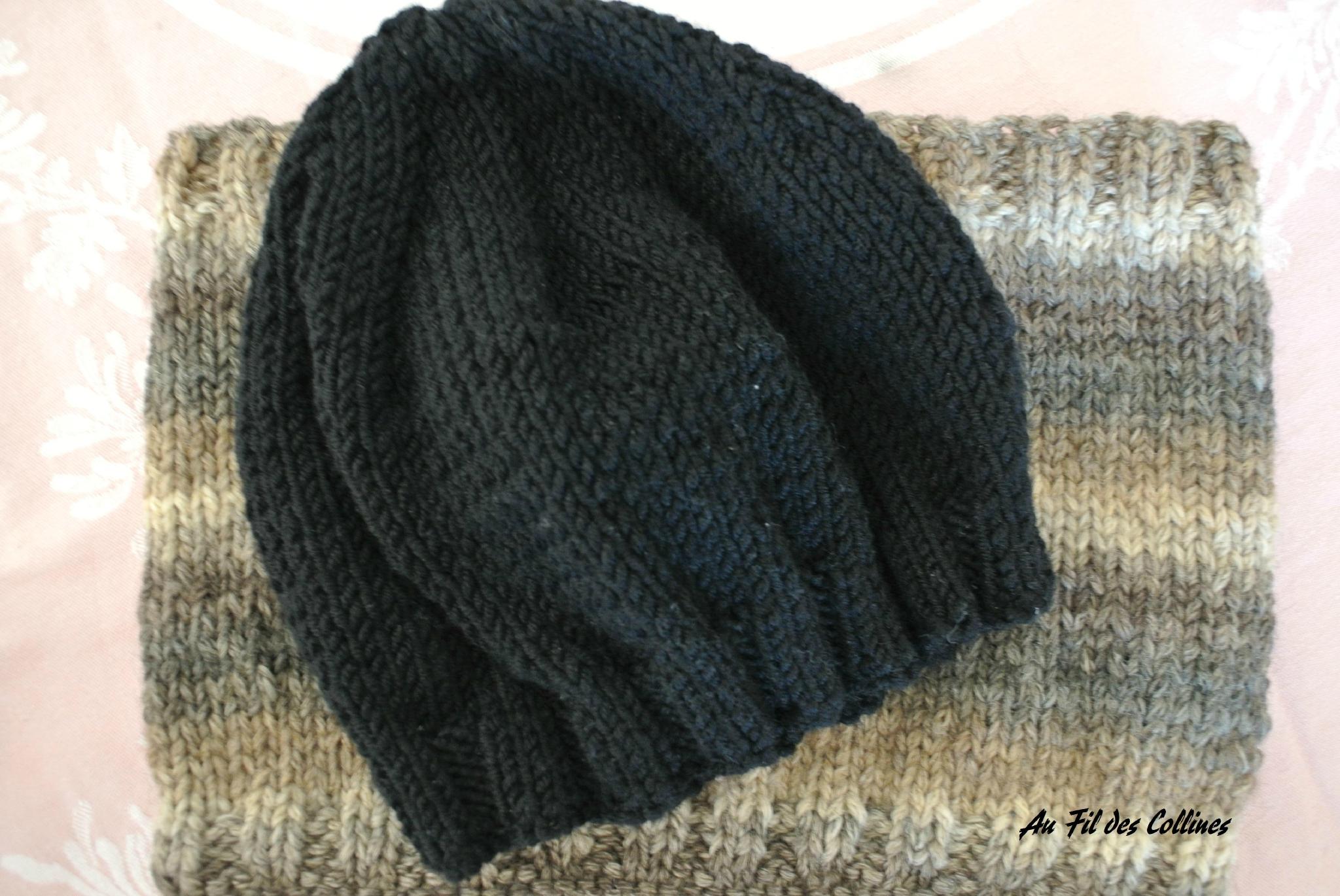 Tuto tricot bonnet homme laine et tricot - Modele de bonnet a tricoter facile ...
