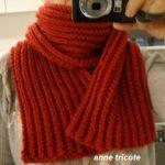 Tricoter une echarpe en laine