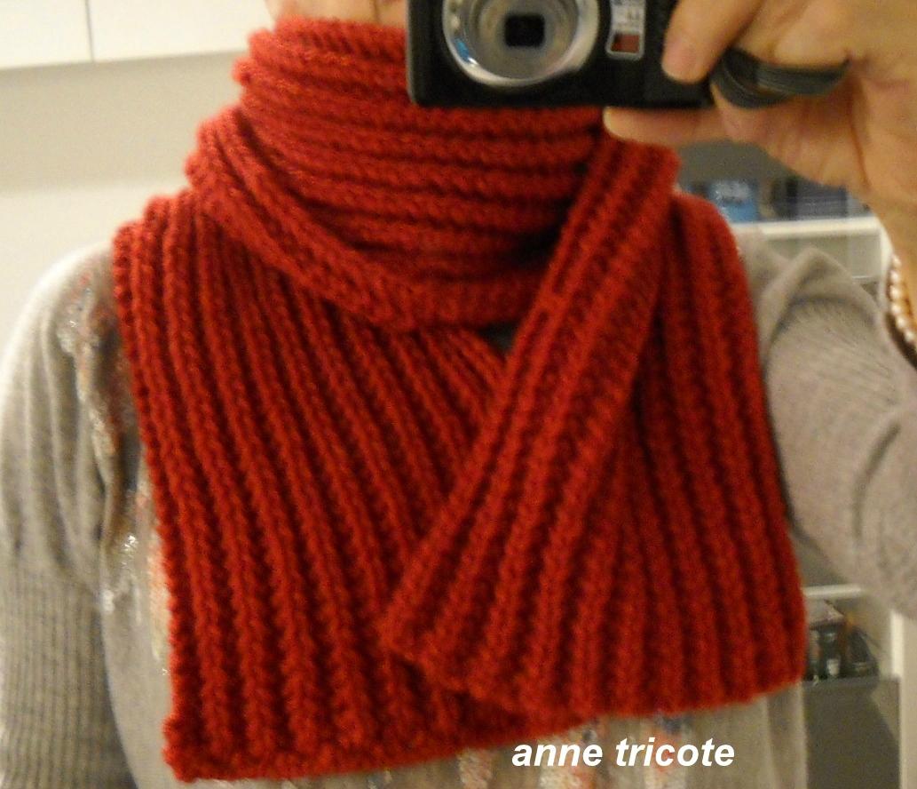 Tricoter une echarpe en laine Laine et tricot b4e118a73da