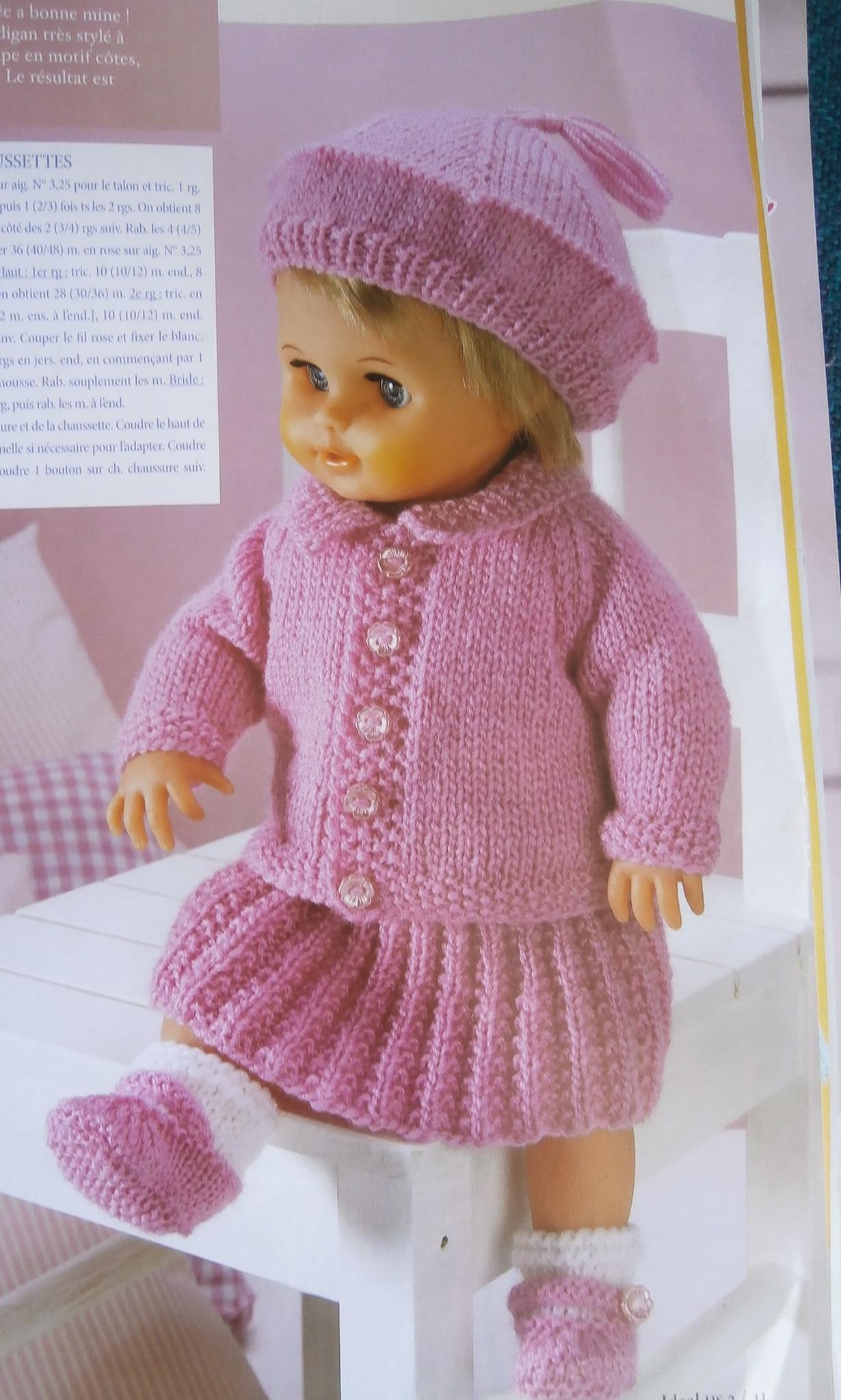 modele tricot pour poupee laine et tricot. Black Bedroom Furniture Sets. Home Design Ideas