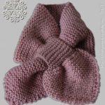 Modèle écharpe garçon tricot
