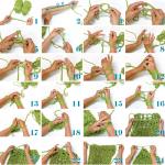 Apprendre à tricoter écharpe