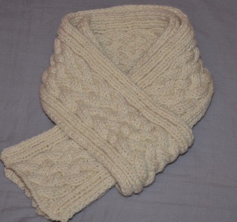 Echarpe laine tricot