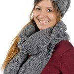 écharpe en laine à tricoter