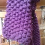 Point tricot echarpe