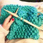 Point tricot pour grosse laine