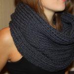 Comment tricoter un snood pour femme