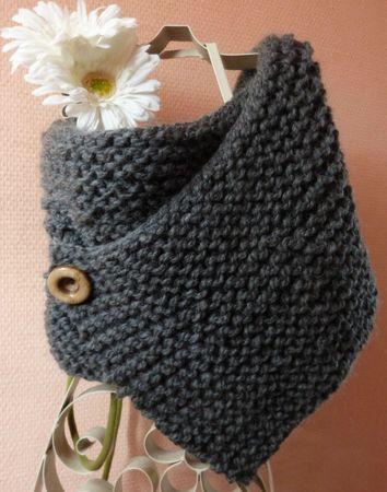 tuto tricoter un snood laine et tricot. Black Bedroom Furniture Sets. Home Design Ideas