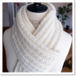 Echarpe en laine a tricoter femme