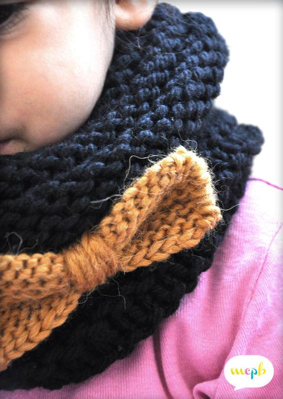 tricoter un snood bebe facile