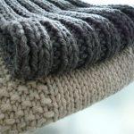 écharpe à tricoter
