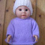 Modele tricot poupon 30 cm gratuit