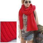 Echarpe a tricoter pour femme