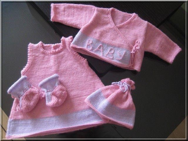 modele tricot layette gratuit fille
