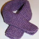 Modele echarpe fillette tricot